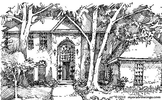 Myers Campbell Tulsa Church drawing